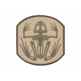 Airsoft Frog Skeleton Patch - OD GREEN / TAN