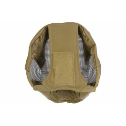 Airsoft V6 Full Face Strike Mesh Mask - TAN