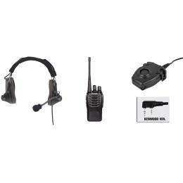zComtac II Headset & zPeltor PTT w/ Baofeng 888S Radio - FOLIAGE