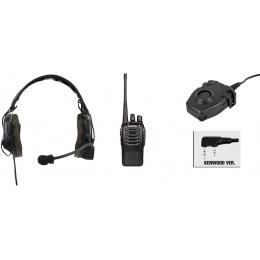 zComtac I Headset & zPeltor PTT w/ Baofeng 888S Radio - FOLIAGE