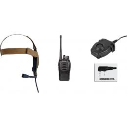 zBowman Elite II Headset & zPeltor PTT w/ Baofeng 888S Radio Set - DE