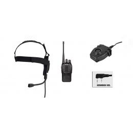 zBowman Elite II Headset & Zpeltor PTT w/ Baofeng 888S Radio Set - FG