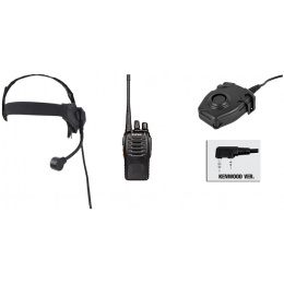 zSelex TASC1 Headset & zPeltor PTT w/ Baofeng 888S Radio Set - FG