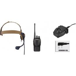zSelex TASC1 Headset & zPeltor PTT w/ Baofeng 888S Radio Set - DE