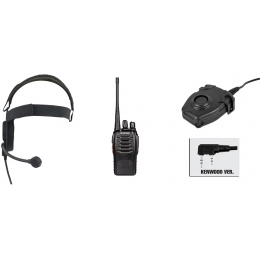 zBowman Evo III Headset & zPeltor PTT w/ Baofeng 888S Radio Set - BLACK