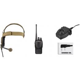 zBowman Evo III Headset & zPeltor PTT w/ Baofeng 888S Radio Set - DE