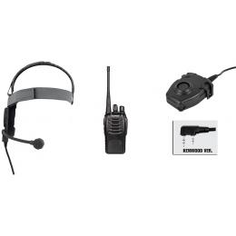 zBowman Evo III Headset & zPeltor PTT w/ Baofeng 888S Radio Set - FG