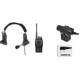 zComtac II Headset & ZU94 PTT w/ Baofeng 888S Radio Set - FG