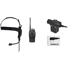 zBowman Elite II Headset & ZU94 PTT w/ Baofeng 888S Radio Set - FG