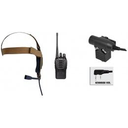 zBowman Elite II Headset & ZU94 PTT w/ Baofeng 888S Radio Set - DE