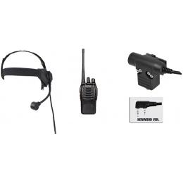 zSelex TASC1 Headset & ZU94 PTT w/ Baofeng 888S Radio Set - FG