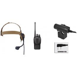 zSelex TASC1 Headset & ZU94 PTT w/ Baofeng 888S Radio Set - DE
