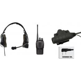 zComtac I Headset & U94 PTT w/ Baofeng 888S Radio - FOLIAGE