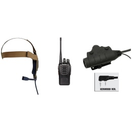 zBowman Elite II Headset & U94 PTT w/ Baofeng 888S Radio - DARK EARTH