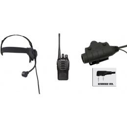 zSelex TASC1 Headset & U94 PTT w/ Baofeng 888S Radio - FOLIAGE