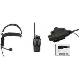 zBowman Elite III Headset & U94 PTT w/ Baofeng 888S Radio - BLACK