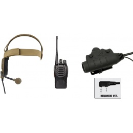 zBowman Elite III Headset & U94 PTT w/ Baofeng 888S Radio - DARK EARTH