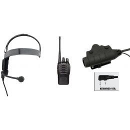 zBowman Elite III Headset & U94 PTT w/ Baofeng 888S Radio - FOLIAGE