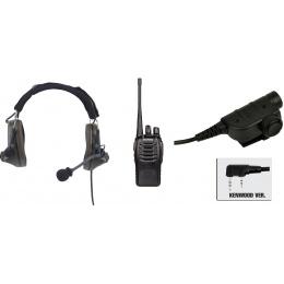 zComtac II Headset & ZSILYNX PTT w/ Baofeng 888S Radio - FOLIAGE