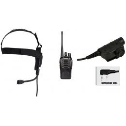 zBowman Elite II Headset & ZSILYNX PTT w/ Baofeng 888S Radio - FOLIAGE