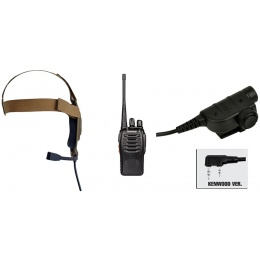 zBowman Elite II Headset & ZSILYNX PTT w/ Baofeng 888S Radio - DE