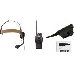 zSelex TASC1 Headset & ZSILYNX KEN PTT w/ Baofeng 888S Radio - DE