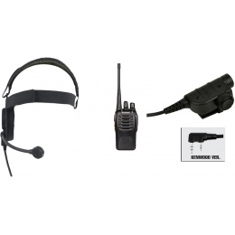 zBowman Elite III Headset & ZSILYNX PTT w/ Baofeng 888S Radio - BLACK