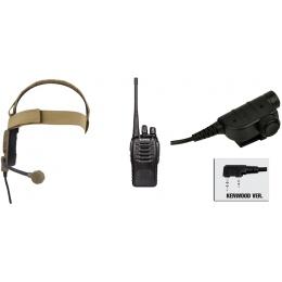 zBowman Elite III Headset & ZSILYNX PTT w/ Baofeng 888S Radio - DE