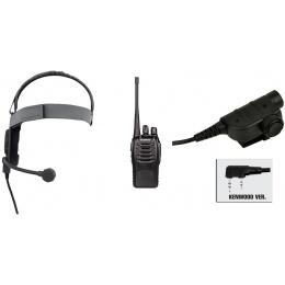 zBowman Elite III Headset & ZSILYNX PTT w/ Baofeng 888S Radio - FG
