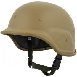 UK Arms PASGT Airsoft Helmet w/ Adjustable Chin Strap - TAN