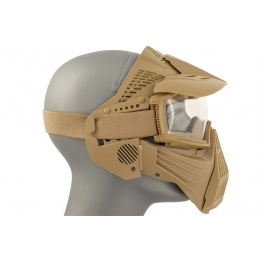 AMA Full Face Airsoft Mask w/ Eye Safety & Visor - TAN