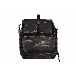 TMC Airsoft 500D Cordura Pouch Zip Panel - CAMO BLACK