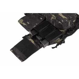 TMC Airsoft 500D Cordura Pouch Zip Panel - CAMO BLACK
