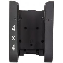Lancer Tactical 4x4 Metal Shotgun Shell Belt Carrier - BLACK