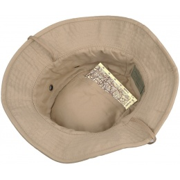Lancer Tactical Boonie Hat w/ Adjustable Chin Strap - TAN