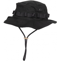Lancer Tactical Boonie Hat w/ Adjustable Chin Strap- BLACK