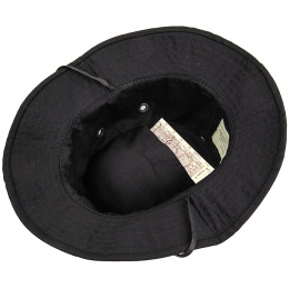 Lancer Tactical Boonie Hat w/ Adjustable Chin Strap- BLACK