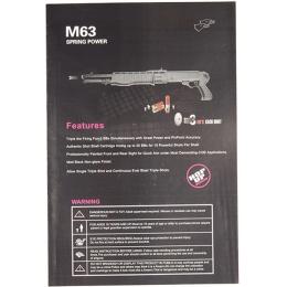 Double Eagle M63 Pump Action 3x10 Shell Tri-Shot Airsoft Shotgun