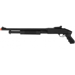 UK Arms Airsoft Spring Shotgun w/ Pistol Grip - BLACK