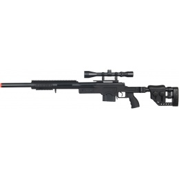 Well MB4410 Airsoft Bolt Action Sniper Rifle w/ 3-9x40 Scope - BLACK