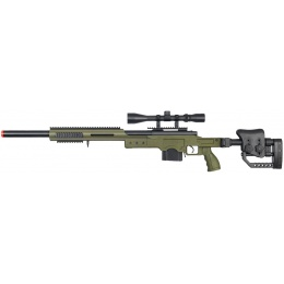 WellFire MB4410 Bolt Action Sniper Rifle w/ 3-9x40 Rifle Scope - OD GREEN