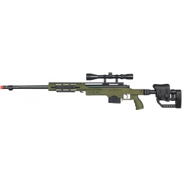 Well MB4411 Airsoft Bolt Action Sniper Rifle w/ 3-9x40 Scope - OD GREEN