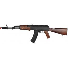 WellFire Airsoft Polymer AK47 AEG Rifle - BLACK/WOOD