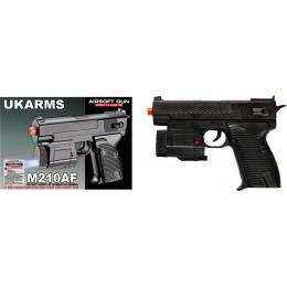UK Arms Airsoft Spring Pistol w/ Laser/Flashlight - BLACK