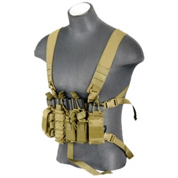 UK Arms Airsoft D-Mittsu QR Combat Chest Rig - KHAKI