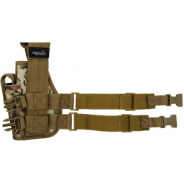 Lancer Tactical Airsoft Tactical Drop Leg Holster - CAMO