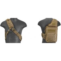 Lancer Tactical Airsoft Messenger Shoulder Bag - TAN
