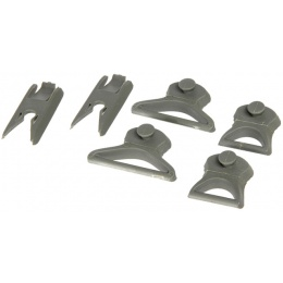 Lancer Tactical Airsoft 35mm Goggle Swivel Clips - FG