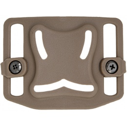 Lancer Tactical Airsoft Belt MOLLE Backplane - DE