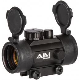 AIM Sports 1x42 Metal Red Dot Airsoft Reflex Sight - BLACK
